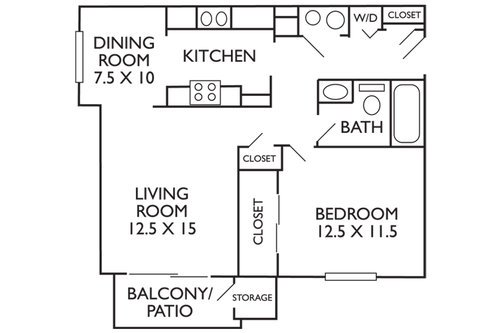 1 Bedroom 1 Bathroom Apartment for rent at Greenfield Apartments in Omaha, NE