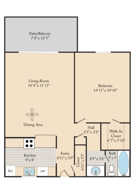 1 Bedroom 1 Bathroom Apartment for rent at Cedar Run Apartments in Denver, CO