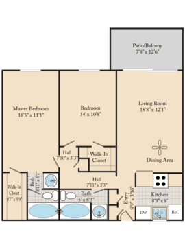 2 Bedrooms 2 Bathrooms Apartment for rent at Cedar Run Apartments in Denver, CO