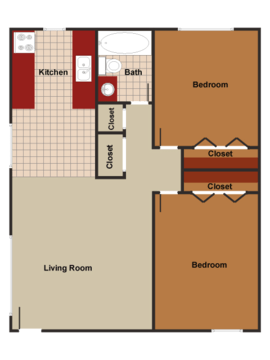 2 Bedrooms 1 Bathroom Apartment for rent at Meridian Garden Apartments in Denver, CO