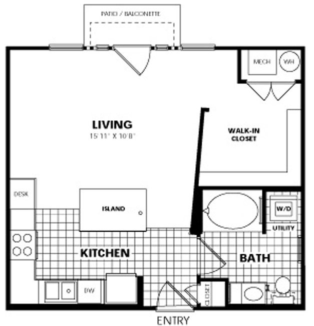 Studio 1 Bathroom Apartment for rent at City Gate Apartments in Denver, CO