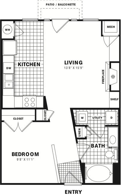 1 Bedroom 1 Bathroom Apartment for rent at City Gate Apartments in Denver, CO