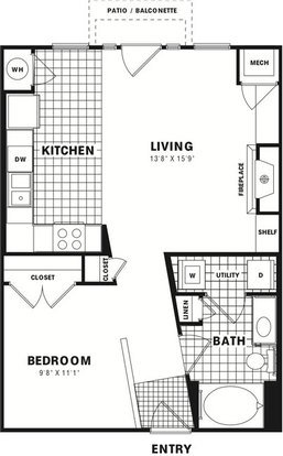 1 Bedroom 1 Bathroom Apartment for rent at City Gate Apartment Homes in Denver, CO