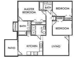 3 Bedrooms 2 Bathrooms Apartment for rent at Crescent Village in Cincinnati, OH
