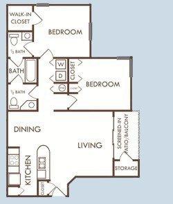 2 Bedrooms 1 Bathroom Apartment for rent at Savannah Rentals in Gainesville, FL
