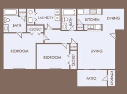 2 Bedrooms 2 Bathrooms Apartment for rent at Greens Of Pine Glen in Durham, NC
