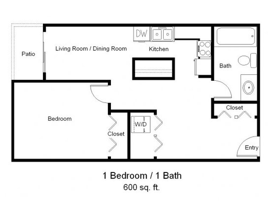 1 Bedroom 1 Bathroom Apartment for rent at Park Avenue West in Denver, CO