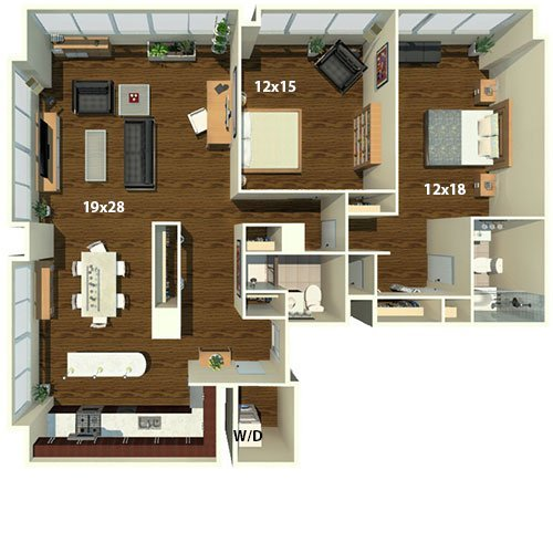 2 Bedrooms 2 Bathrooms Apartment for rent at The Sterling in Philadelphia, PA