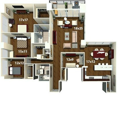 3 Bedrooms 2 Bathrooms Apartment for rent at The Sterling in Philadelphia, PA