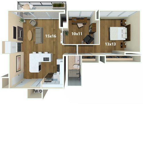 1 Bedroom 1 Bathroom Apartment for rent at Park Towne Place in Philadelphia, PA