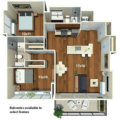 2 Bedrooms 2 Bathrooms Apartment for rent at Park Towne Place in Philadelphia, PA