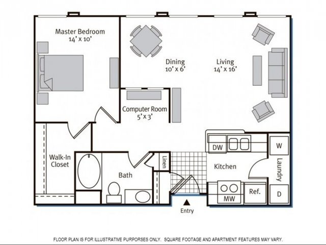 1 Bedroom 1 Bathroom Apartment for rent at Pavona Apartments in San Jose, CA