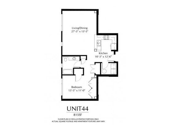 Studio 1 Bathroom Apartment for rent at The District in Denver, CO