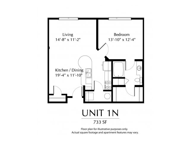 1 Bedroom 1 Bathroom Apartment for rent at The District in Denver, CO