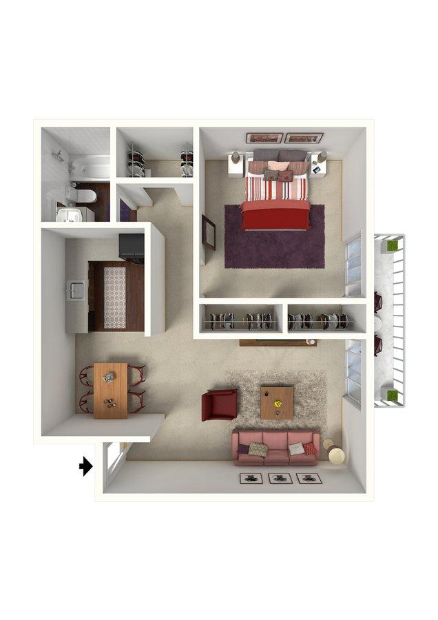 1 Bedroom 1 Bathroom Apartment for rent at Creeks On Kirklevington in Lexington, KY