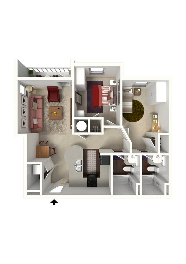 2 Bedrooms 2 Bathrooms Apartment for rent at Creeks On Kirklevington in Lexington, KY