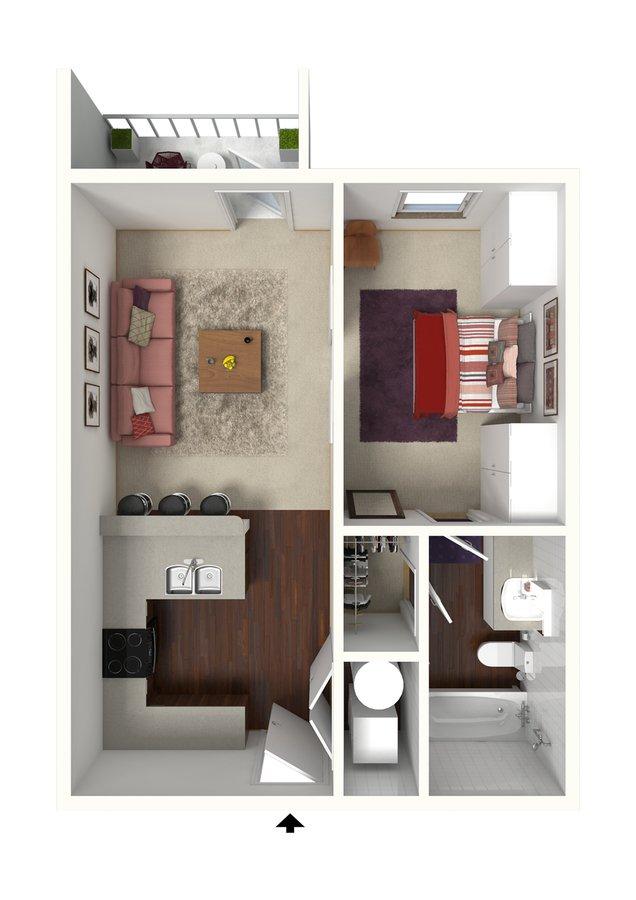 Studio 1 Bathroom Apartment for rent at Creeks On Kirklevington in Lexington, KY