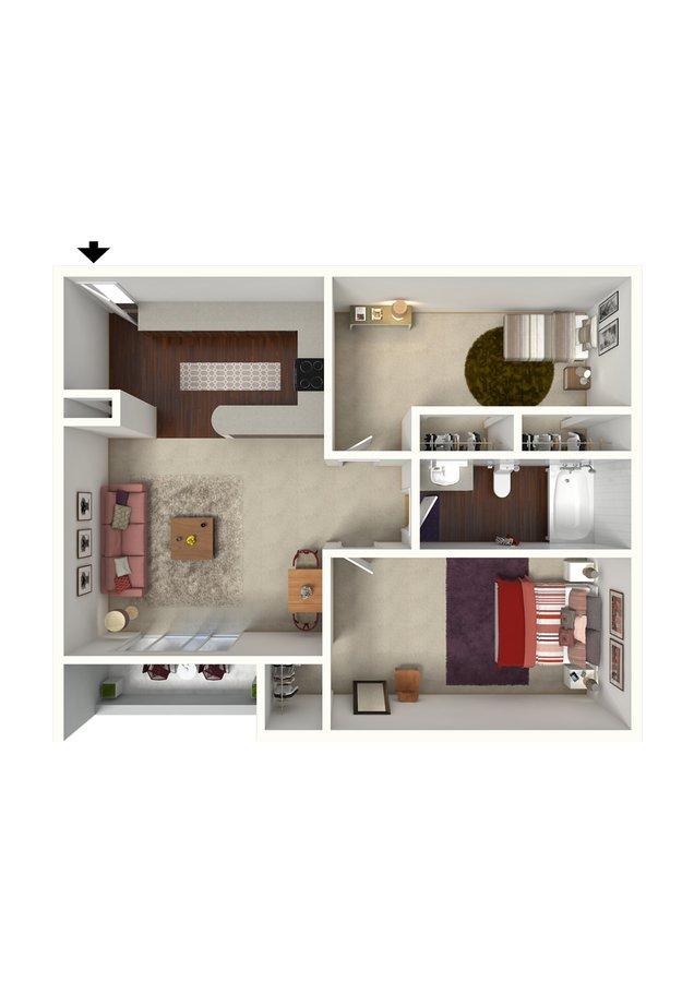 2 Bedrooms 1 Bathroom Apartment for rent at Creeks On Kirklevington in Lexington, KY