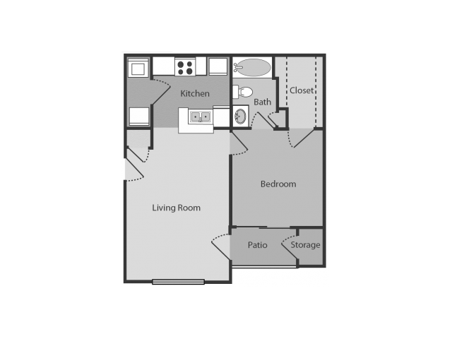 1 Bedroom 1 Bathroom Apartment for rent at Midtown Crossing in Raleigh, NC