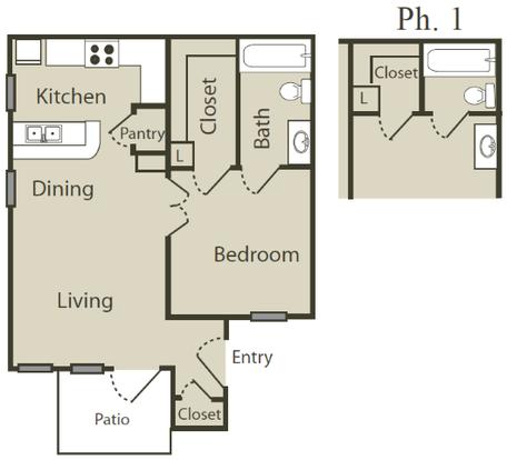 1 Bedroom 1 Bathroom Apartment for rent at Blue Swan in San Antonio, TX