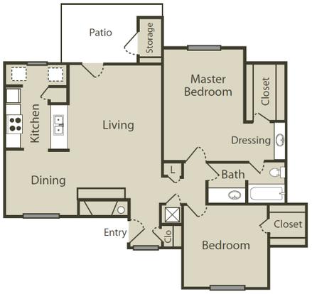 2 Bedrooms 1 Bathroom Apartment for rent at Blue Swan in San Antonio, TX