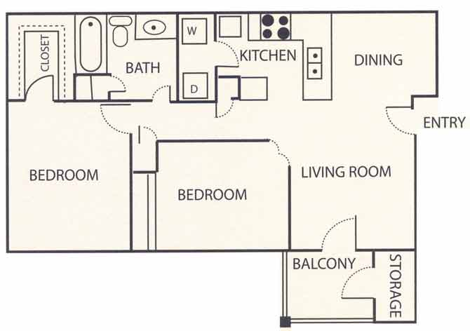 2 Bedrooms 1 Bathroom Apartment for rent at Brook Highland Place in Birmingham, AL