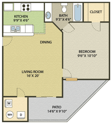 1 Bedroom 1 Bathroom Apartment for rent at Springfield in Durham, NC