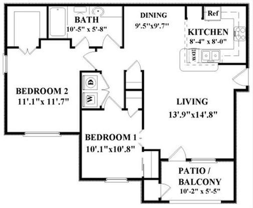 2 Bedrooms 1 Bathroom Apartment for rent at Vineyard Springs in San Antonio, TX