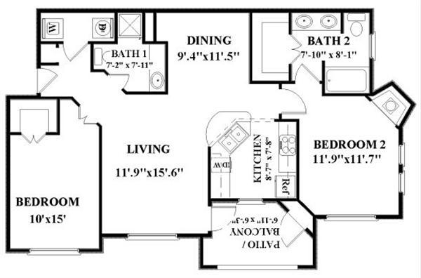 2 Bedrooms 2 Bathrooms Apartment for rent at Vineyard Springs in San Antonio, TX