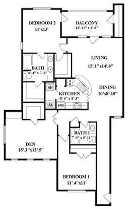 3 Bedrooms 2 Bathrooms Apartment for rent at Vineyard Springs in San Antonio, TX