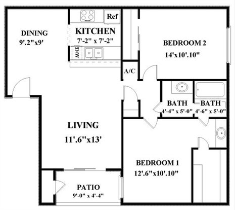 2 Bedrooms 1 Bathroom Apartment for rent at Woodbridge in San Antonio, TX