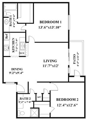 2 Bedrooms 2 Bathrooms Apartment for rent at Woodbridge in San Antonio, TX