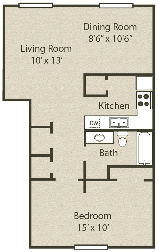1 Bedroom 1 Bathroom Apartment for rent at Creeks On Tates Creek in Lexington, KY