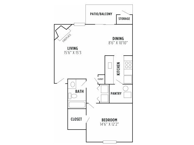 1 Bedroom 1 Bathroom Apartment for rent at Madison The Woodlands in Kansas City, MO