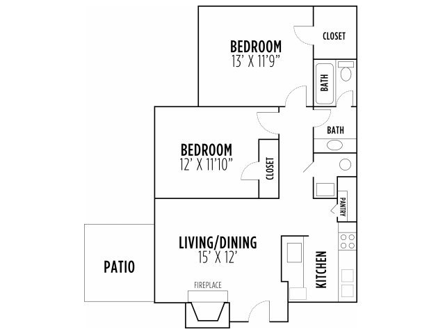 2 Bedrooms 1 Bathroom Apartment for rent at Madison Cypress Lakes in Memphis, TN