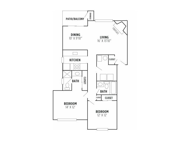2 Bedrooms 2 Bathrooms Apartment for rent at Madison The Woodlands in Kansas City, MO