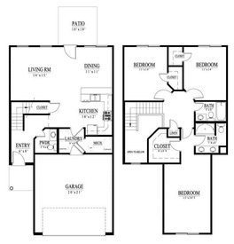 3 Bedrooms 3 Bathrooms Apartment for rent at Camden Grove Townhomes in Omaha, NE