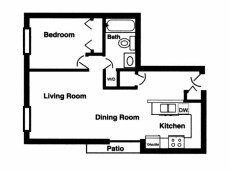 1 Bedroom 1 Bathroom Apartment for rent at Applewood Pointe Apartments in Omaha, NE