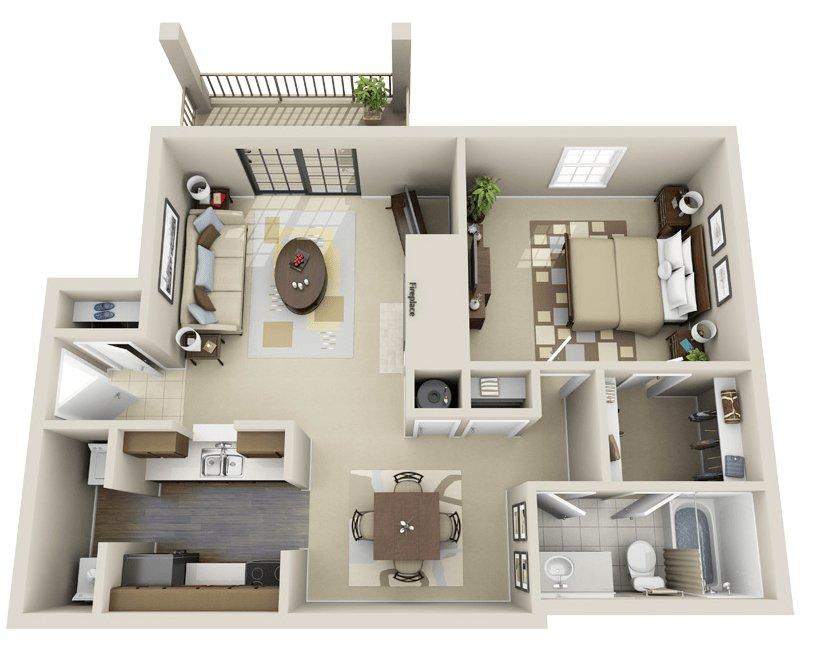 1 Bedroom 1 Bathroom Apartment for rent at Woodmere Creek Apartments in Birmingham, AL