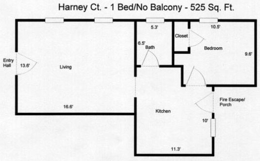 1 Bedroom 1 Bathroom Apartment for rent at Harney Court in Omaha, NE