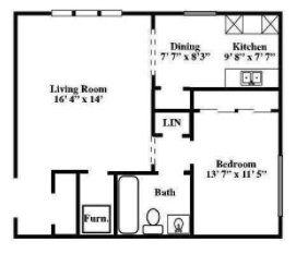 1 Bedroom 1 Bathroom Apartment for rent at Old Mill Apartments in Omaha, NE