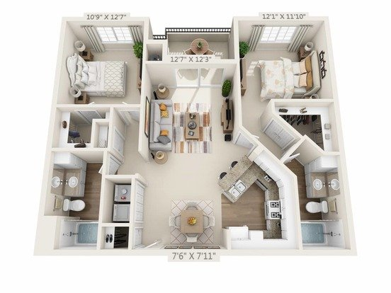 2 Bedrooms 2 Bathrooms Apartment for rent at River Terrace in Santa Clara, CA