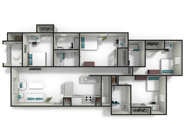 4 Bedrooms 4+ Bathrooms Apartment for rent at Tiger Lodge in Auburn, AL