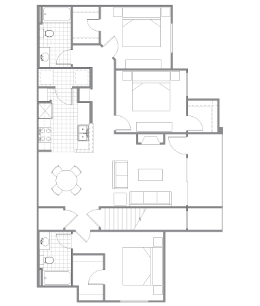 3 Bedrooms 2 Bathrooms Apartment for rent at The Highline On Cherry Creek in Denver, CO