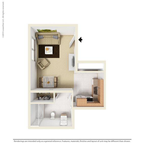 Studio 1 Bathroom Apartment for rent at Harrisburg Square Apartments in Omaha, NE