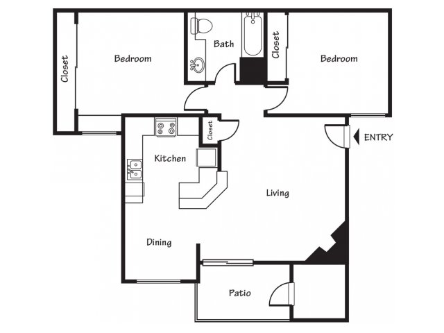 2 Bedrooms 1 Bathroom Apartment for rent at Spring Park Apartments in El Paso, TX