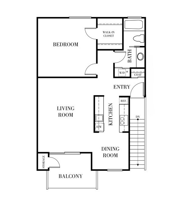 1 Bedroom 1 Bathroom Apartment for rent at Terra Willow Glen in San Jose, CA