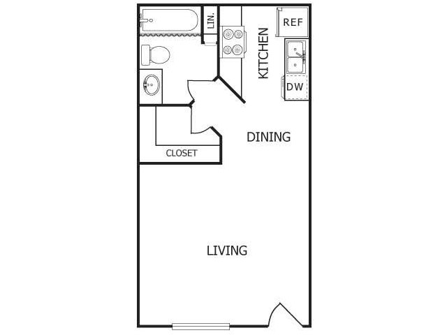 Studio 1 Bathroom Apartment for rent at Mesa Verde in Albuquerque, NM