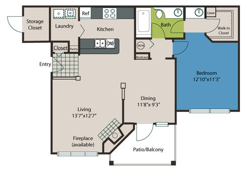 1 Bedroom 1 Bathroom Apartment for rent at The Preserve At Ballantyne Commons in Charlotte, NC