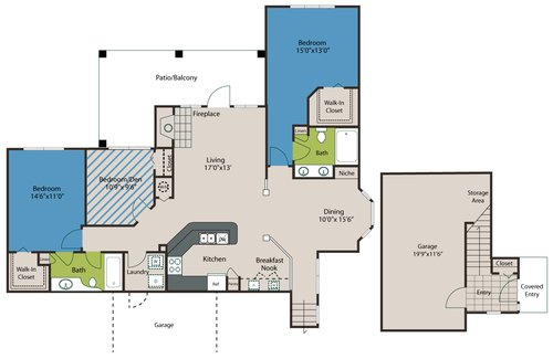3 Bedrooms 2 Bathrooms Apartment for rent at The Preserve At Ballantyne Commons in Charlotte, NC